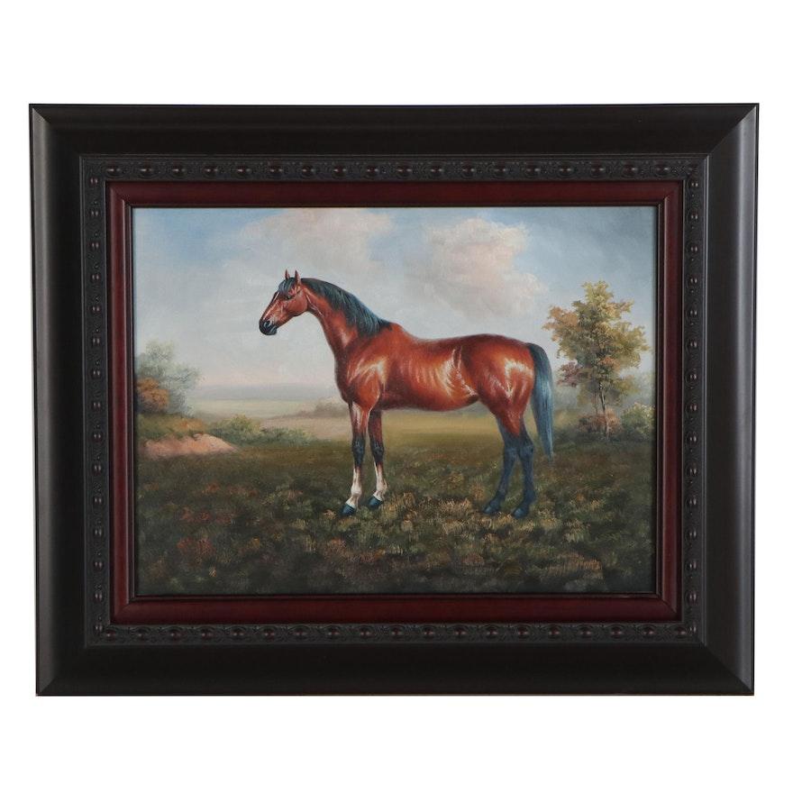 Horse Oil Painting, 21st Century