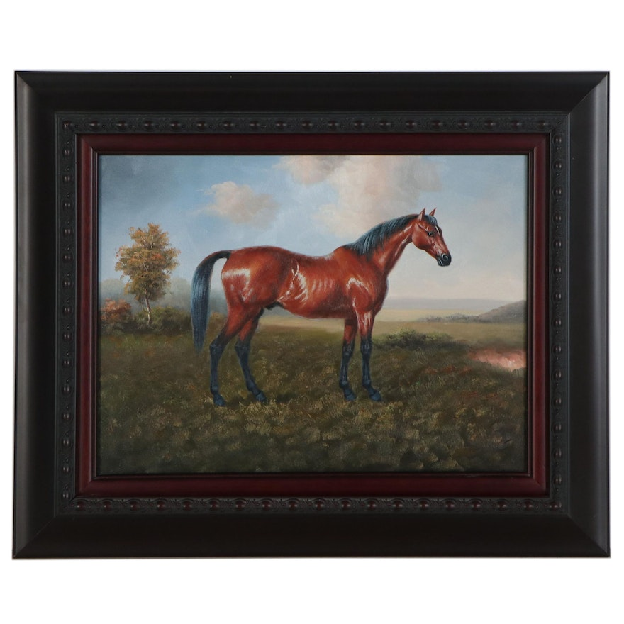 Oil Painting of a Horse, 21st Century
