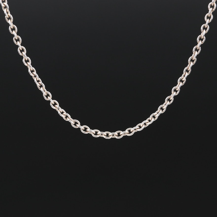 Sterling Cable Chain Necklace