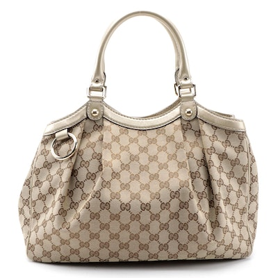 Gucci Sukey Tote in GG Canvas