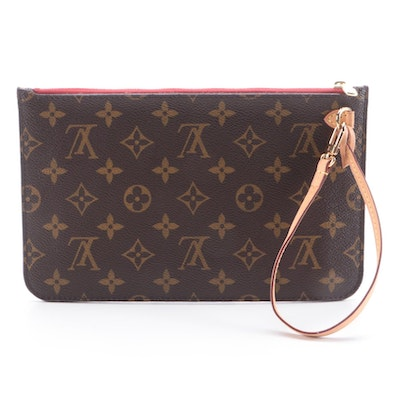 Louis Vuitton Neverfull Pochette in Monogram Coated Canvas