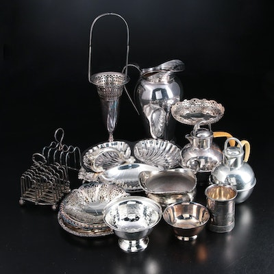 Silver Plate and Pewter Tableware and Décor