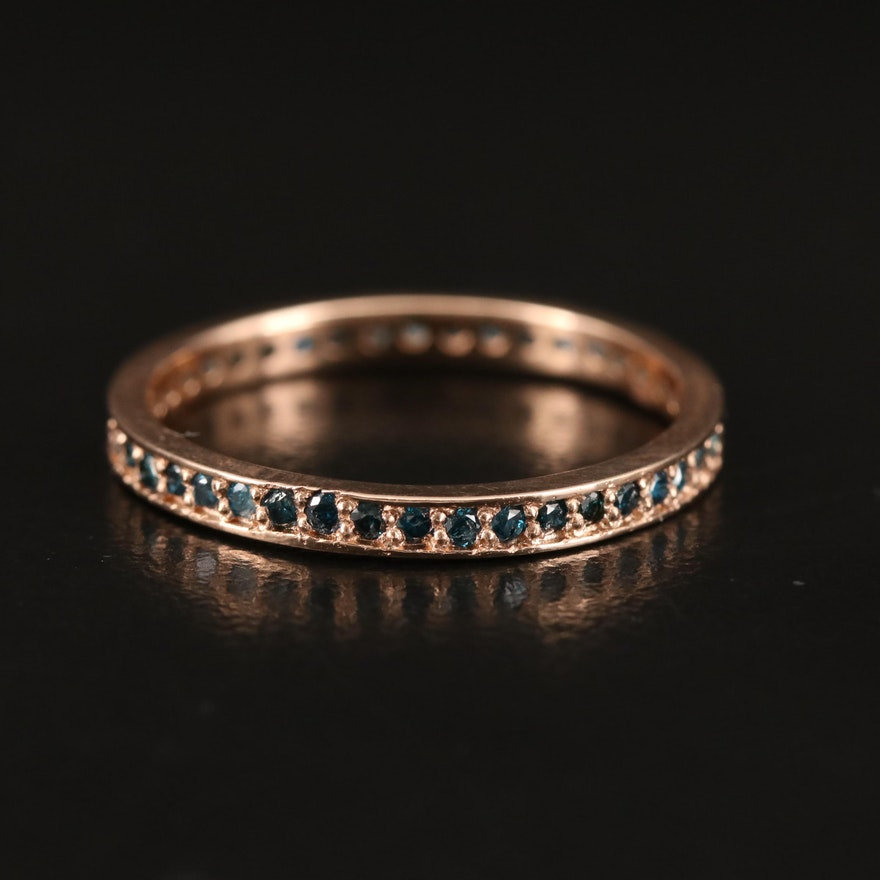 14K Rose Gold Diamond Eternity Band