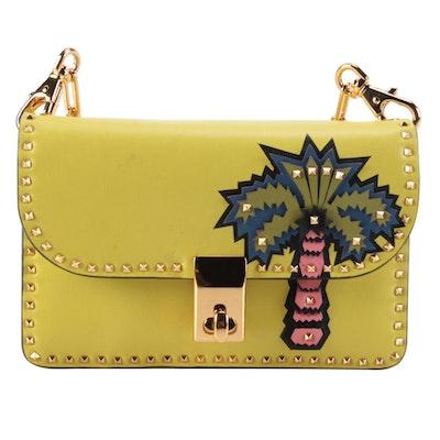 Valentino Micro Rockstud Palm Tree Appliqué Crossbody Bag