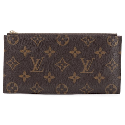 Louis Vuitton Monogram Coated Canvas Zipper Accessory Pouch