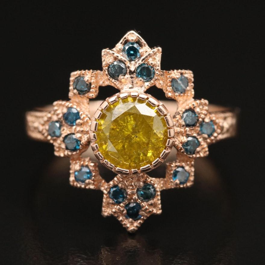 14K Rose Gold 1.46 CTW Diamond Ring