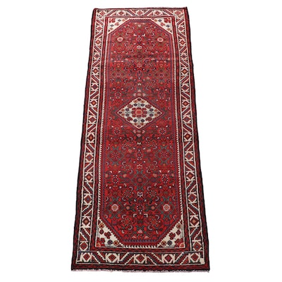 3'5 x 10'1 Hand-Knotted Persian Gogarjin Wool Long Rug