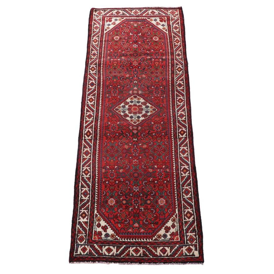 3'5 x 10'1 Hand-Knotted Persian Gogarjin Wool Long Rug