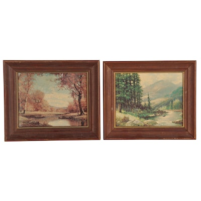 Landscape Offset Lithographs after Robert William Wood