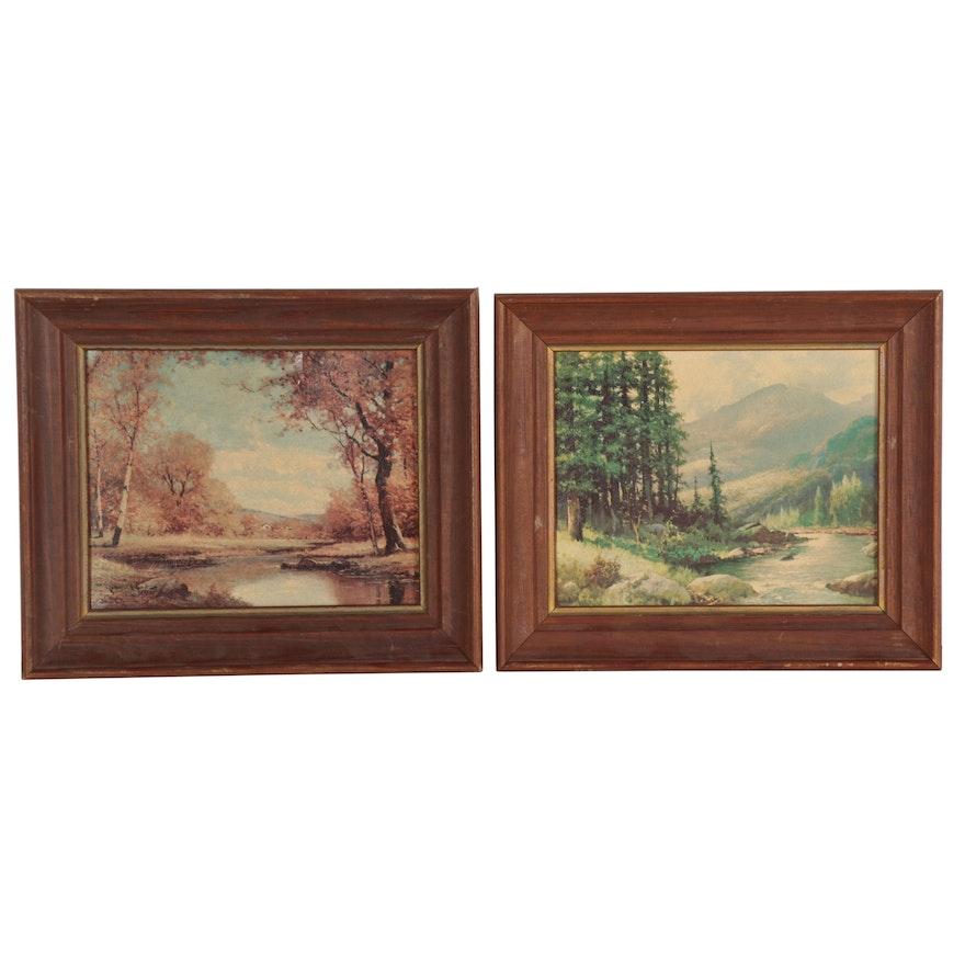 Landscape Offset Lithographs after Robert William Wood