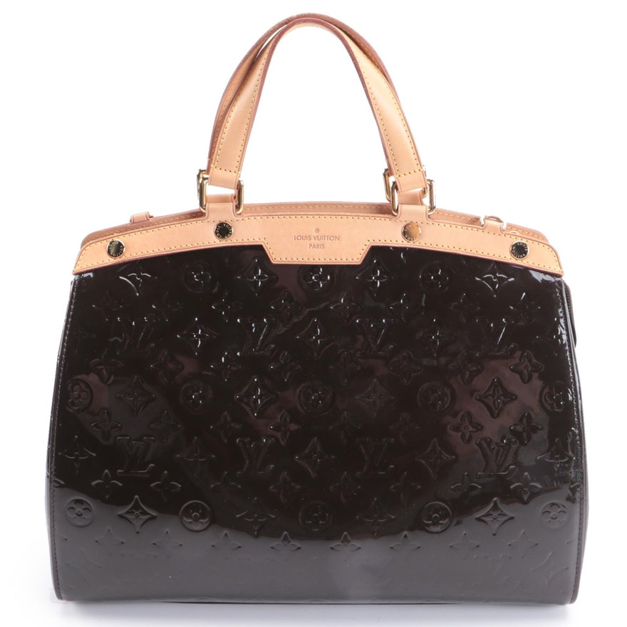 Louis Vuitton Brea Handbag in Amarante Monogram Vernis