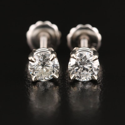 14K 0.85 CTW Diamond Stud Earrings
