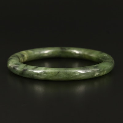 Nephrite Hololith Bangle