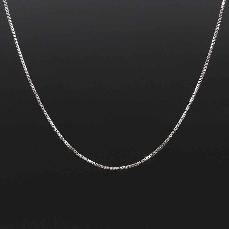 Sterling Box Chain Necklace