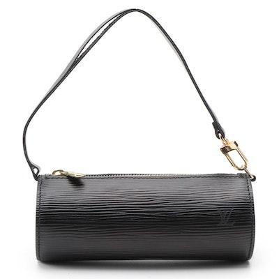 Louis Vuitton Soufflot Pochette in Black Epi Leather
