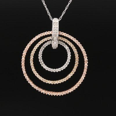 10K Diamond Concentric Necklace
