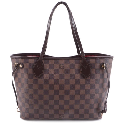 Louis Vuitton Neverfull PM in Damier Ebene Canvas