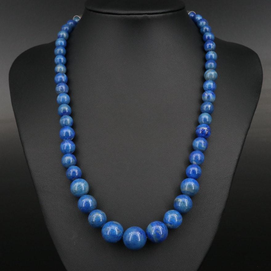 Desert Rose Trading Graduated Lapis Lazuli Beaded Necklace