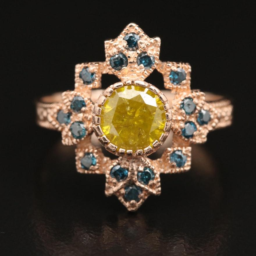 14K Rose Gold 1.38 CTW Diamond Ring