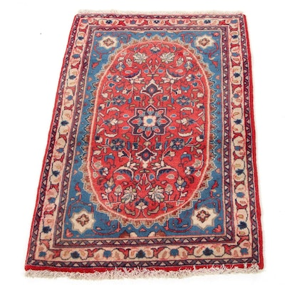 2'1 x 3'4 Hand-Knotted Persian Isfahan Accent Rug, 1970s