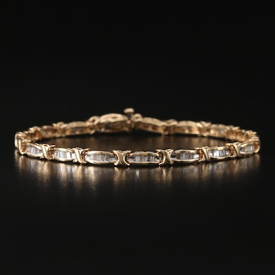 10K 1.00 CT Diamond Bracelet