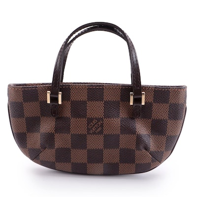 Louis Vuitton Manosque Pochette in Damier Ebene Coated Canvas