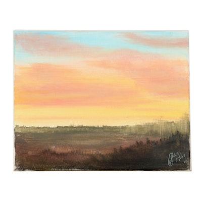 "Anjana Shakya Acrylic Painting ""Landscape,"" 2020"