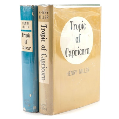 "First Printing ""Tropic of Cancer"" and ""Tropic of Capricorn"" by Henry Miller"