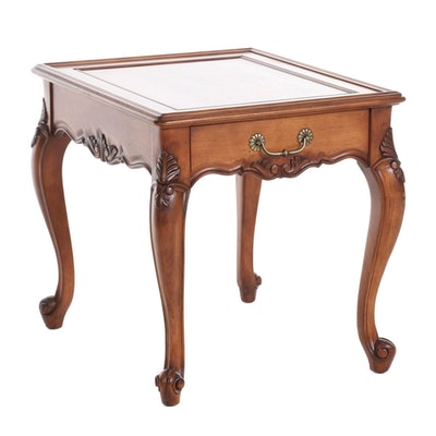 Superior Furniture Co. French Provincial Style Wood Single-Drawer Side Table