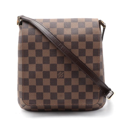 Louis Vuitton Musette Salsa Handbag in Damier Ebene Canvas