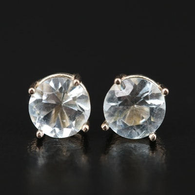 14K Aquamarine Stud Earrings