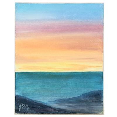 "Anjana Shakya Acrylic Painting ""Landscape"", 2020"