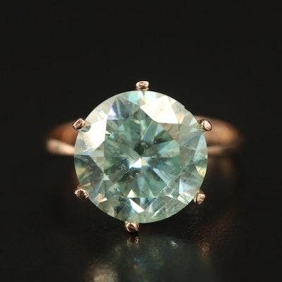 14K Moissanite Solitaire Ring