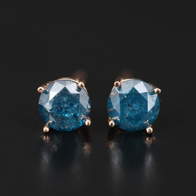 14K 1.05 CTW Diamond Stud Earrings