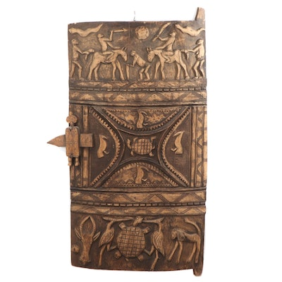 Dogon/Bamana Style Carved Wood Large-Scale Granary Type Door