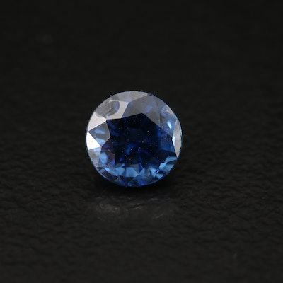 Loose 0.77 CT Round Faceted Sapphire
