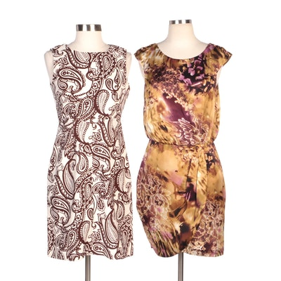 Jessica Howard Patterned Sleeveless Cocktail Dresses