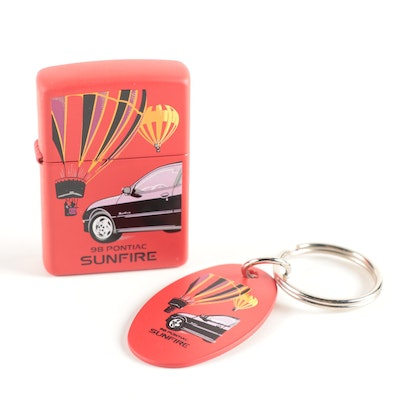 Zippo Spec Samples '98 Sunfire Ziplight and Keychain with Box