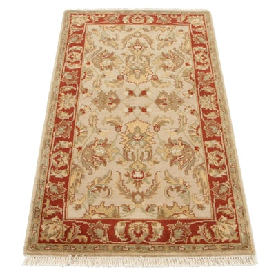 3' x 5'3 Hand-Knotted Indo-Persian Tabriz Accent Rug, 2000s