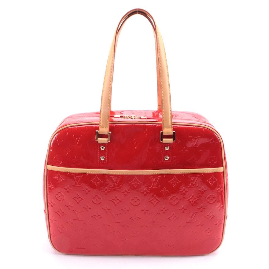 Louis Vuitton Monogram Red Vernis Sutton Weekender Bag