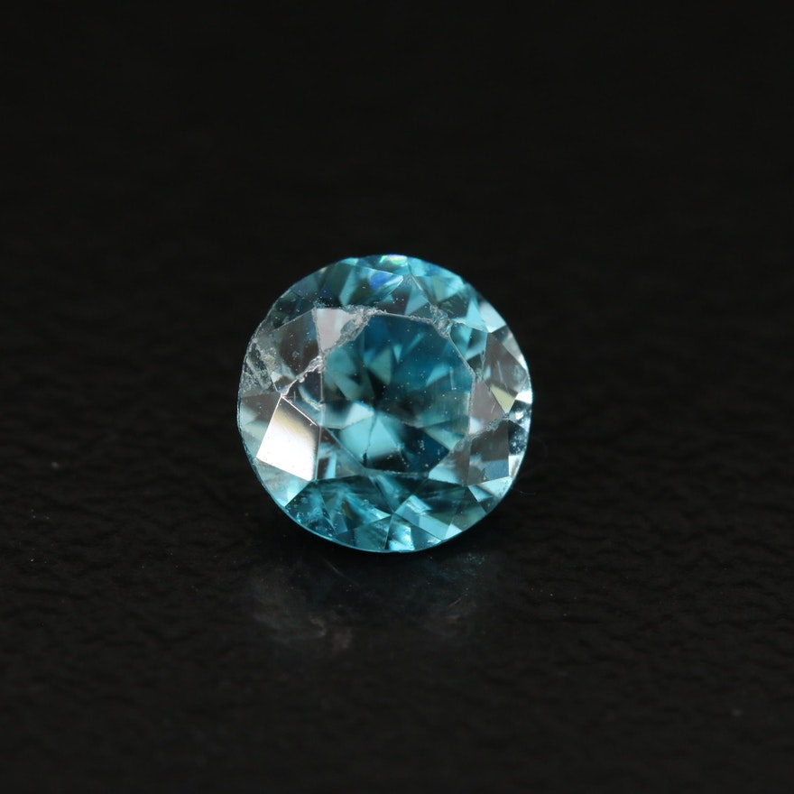Loose 1.24 CT Round Faceted Zircon