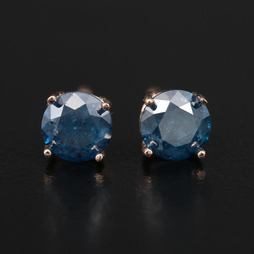 14K 1.02 CTW Diamond Stud Earrings