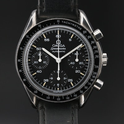 "Omega ""Speedmaster Reduced"" Stainless Steel Automatic Wristwatch"