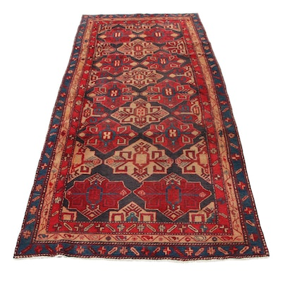 4'4 x 9'10 Hand-Knotted Northwest Persian Long Rug, 1960s