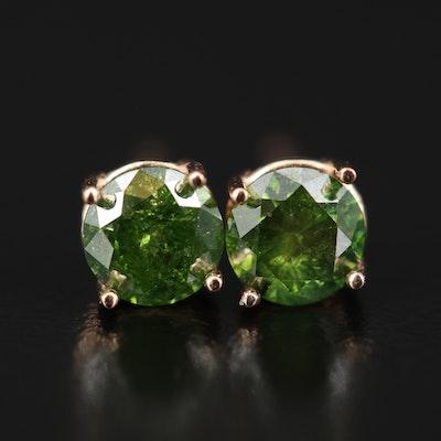 14K Rose Gold 0.78 CTW Diamond Stud Earrings