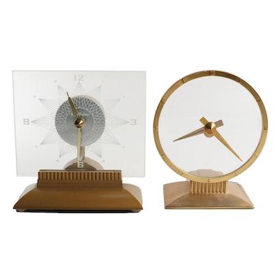 Mastercrafters Starlight and Jefferson Golden Hour Clocks, Mid-20th Century