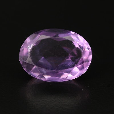 Loose 18.45 CT Oval Faceted Amethyst