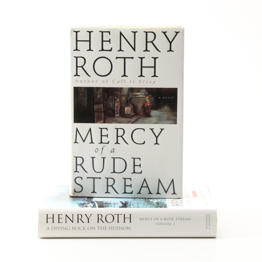 """Signed """"Mercy of a Rude Stream"""" Two-Volume Set by Henry Roth"""