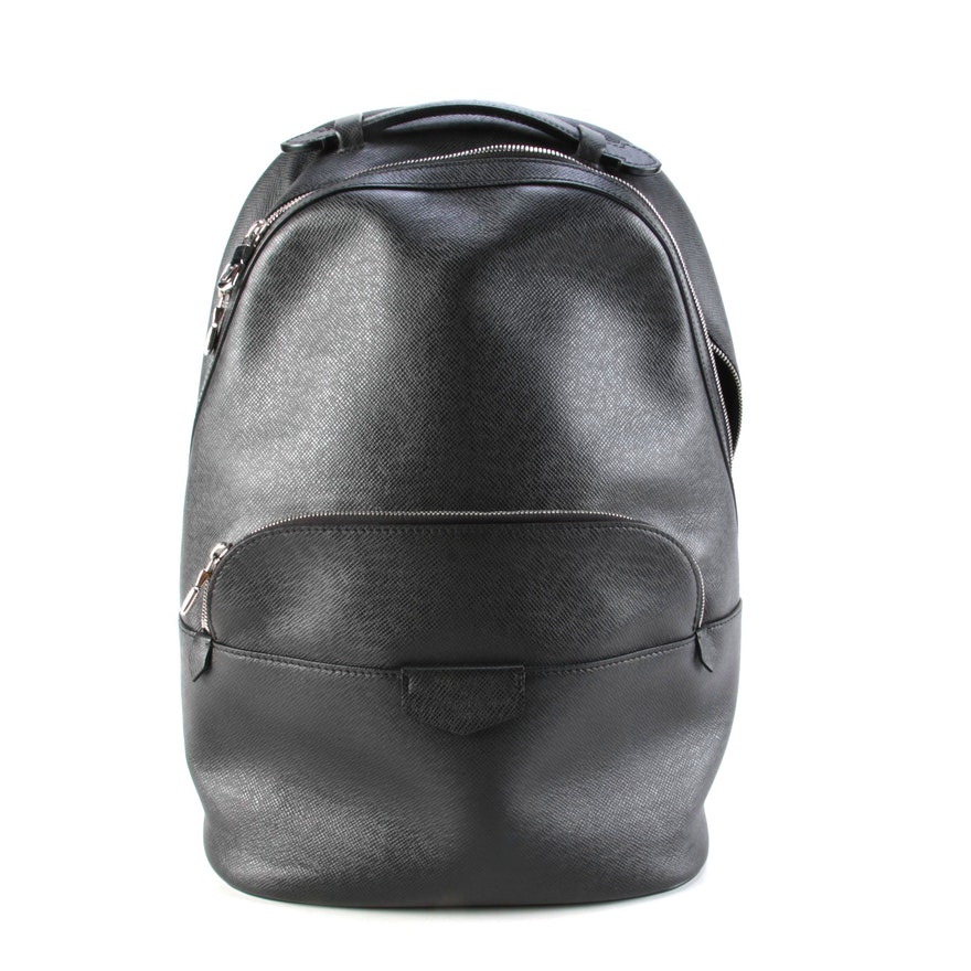 Louis Vuitton Anton Backpack in Black Taiga Leather