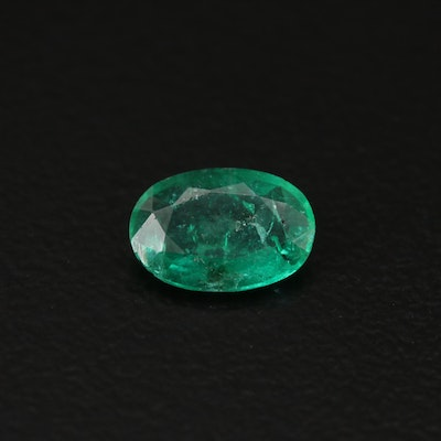 Loose 0.60 CT Oval Faceted Emerald